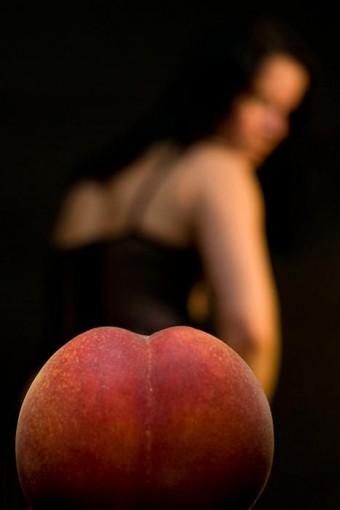 Een perzik vanuit de juiste hoek genomen