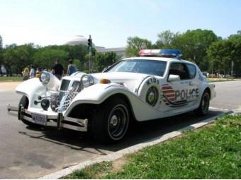 Old timer politiewagen