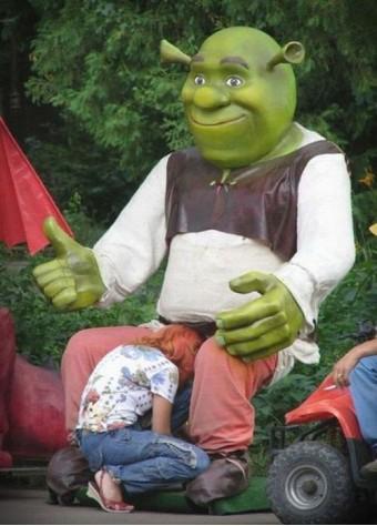 Shrek is happy