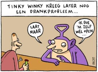 Tinky Winky heeft geen drankprobleem