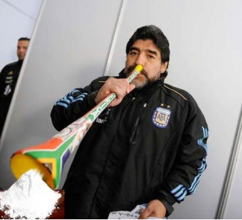 Vuvuzela van Maradonna